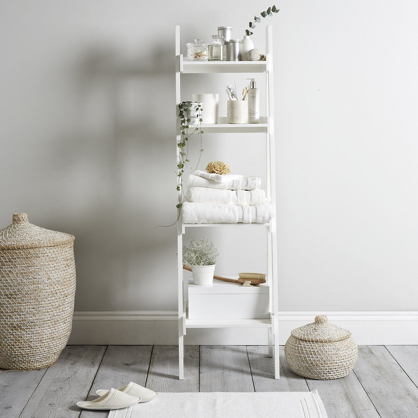 Bathroom Ladder Shelf The White Company