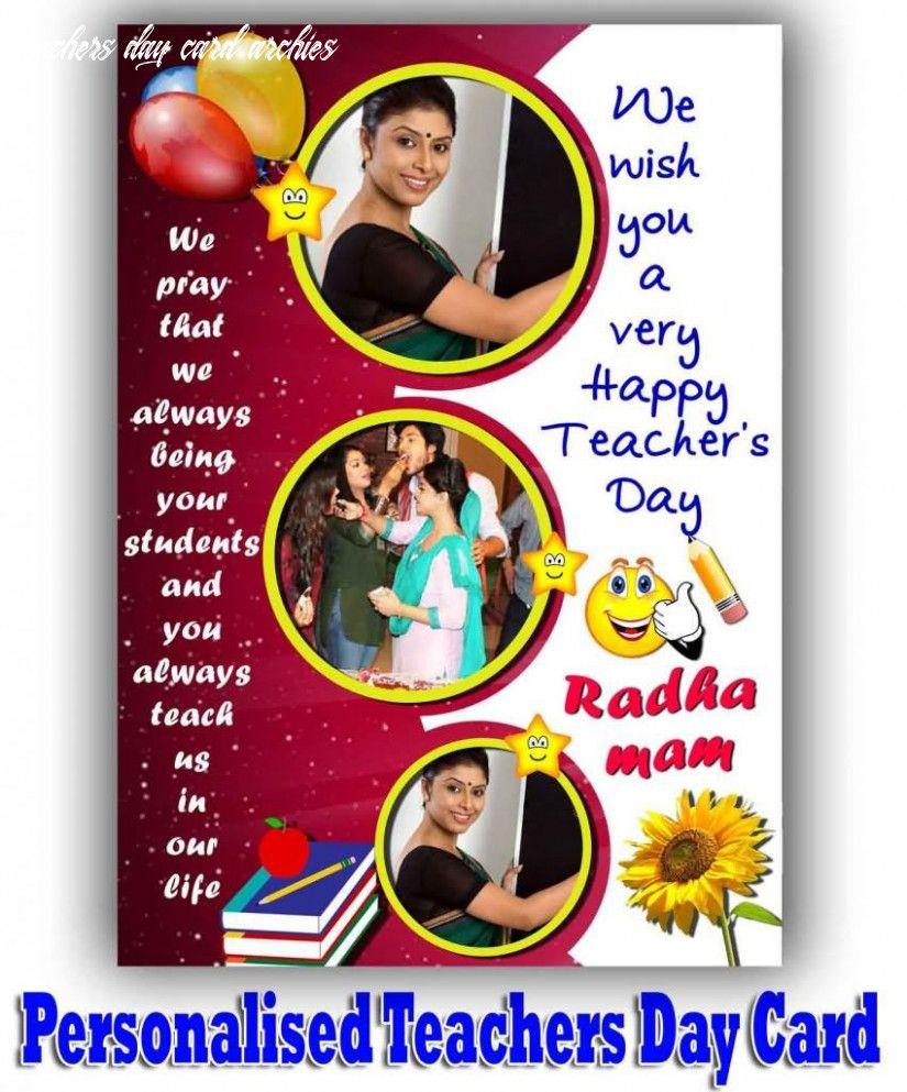 4 Teachers Day Card Archies in 4  Teachers day card, Teacher