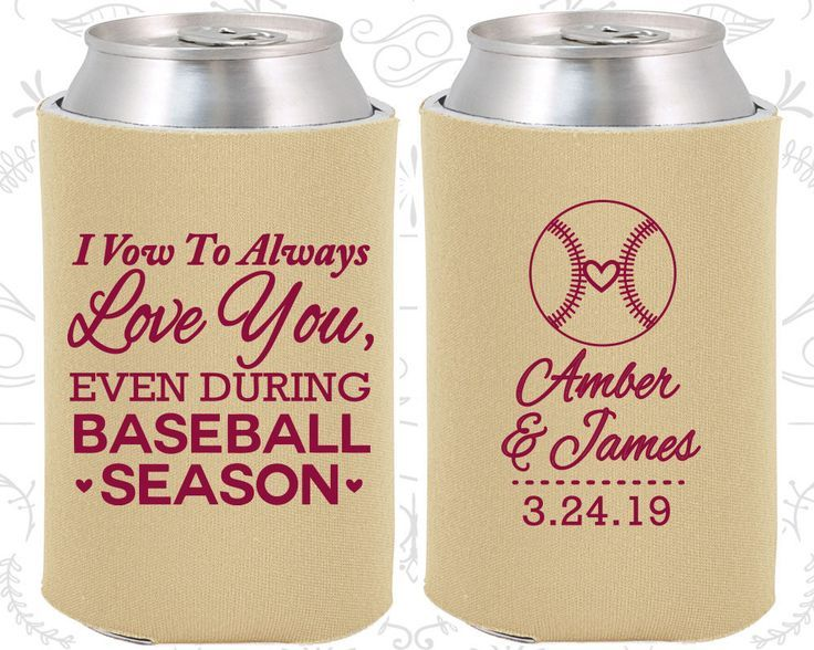 I Vow To Always Love You Even During Basketball Season Personalized Wedding Favors Sports Coozies