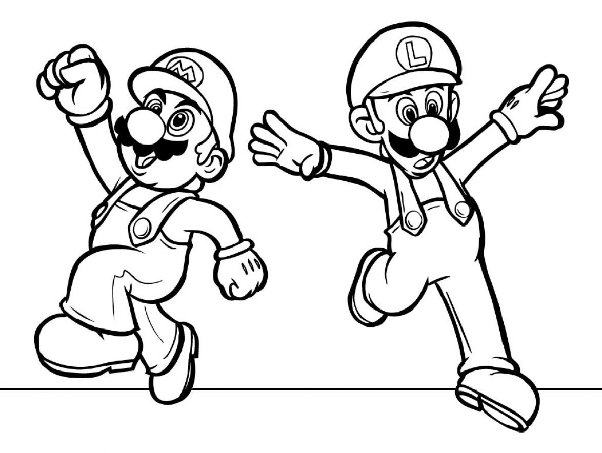coloring sheets printable free printable coloring pages of mario characters pictures 1 - Free Printable Coloring Page