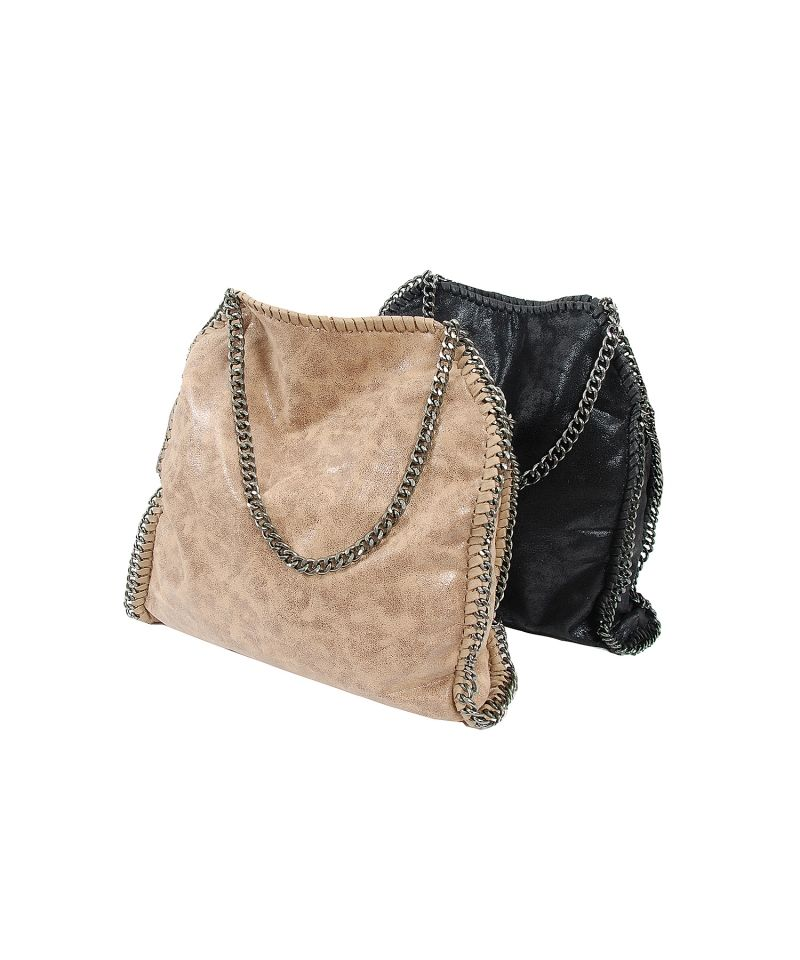 Made of quality faux leatherNon-adjustable chain strap