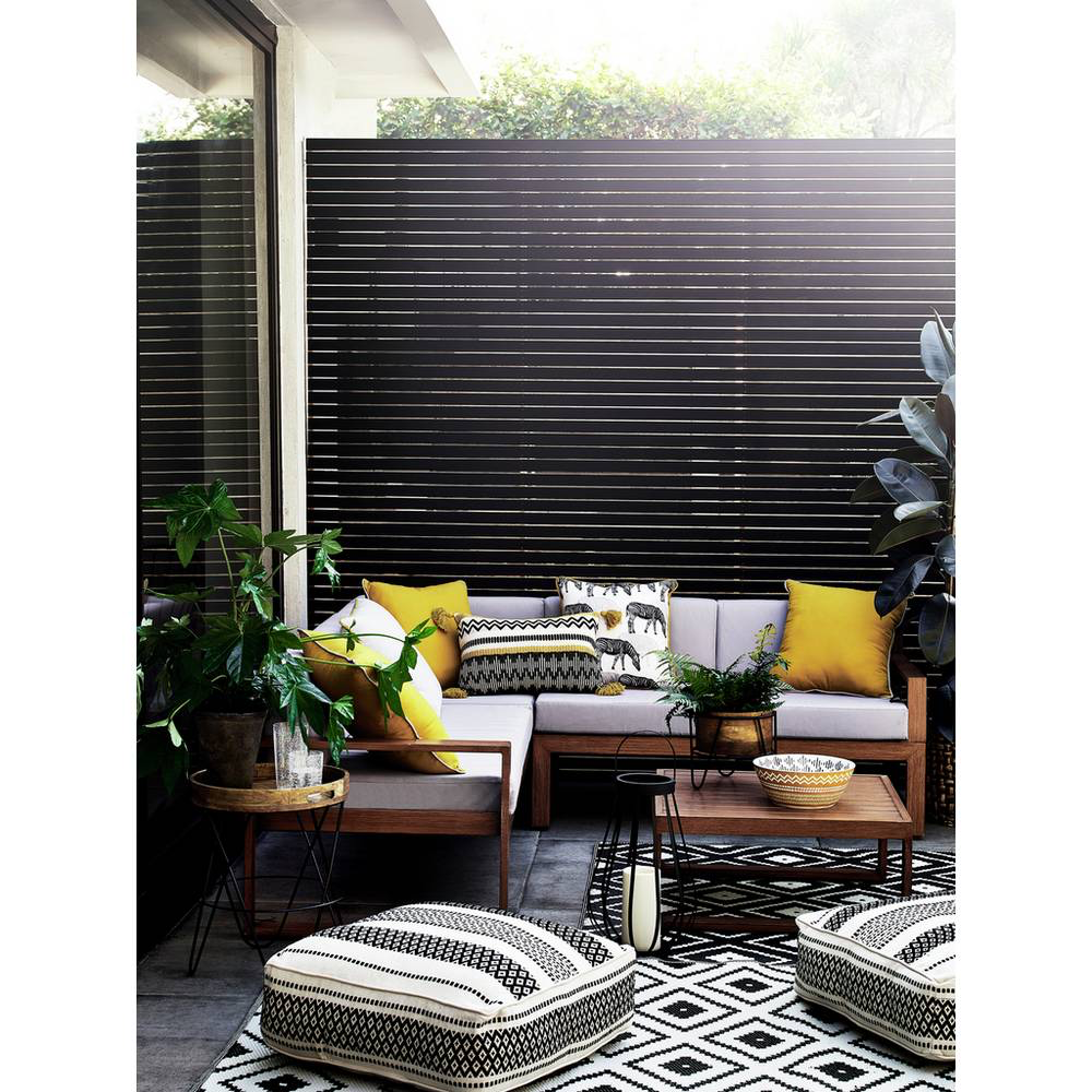 Buy Argos Home Global Monochrome Outdoor Rug 1.7m x 0.9m