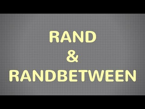 Learn how to use RAND, RANDBETWEEN functions in Excel as a random