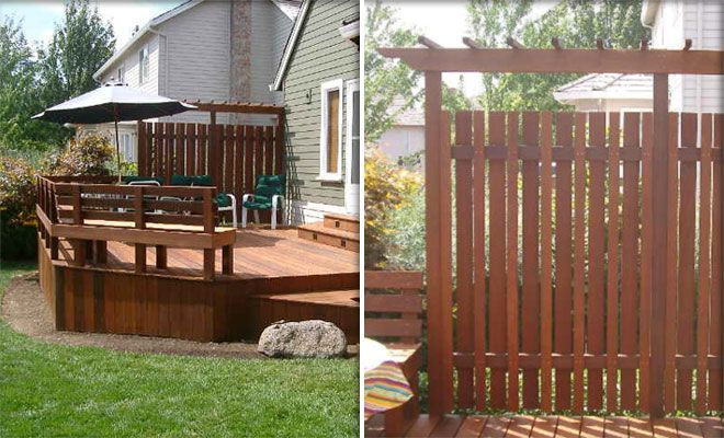 Privacy screen privacy screen ideas pinterest shade for Privacy partitions for decks