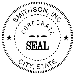 Company Seal Stamp Template | This Corporate Seal Embosser Is Made For 20 Lb Paper Or Stationary
