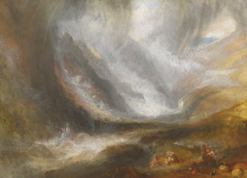 J.M.W. Turner, Valley of Aosta: Snowstorm, Avalanche, and Thunderstorm, Oil on canvas, 92.2 x 123 cm, Frederick T. Haskell Collection, 1947.513, The Art Institute of Chicago