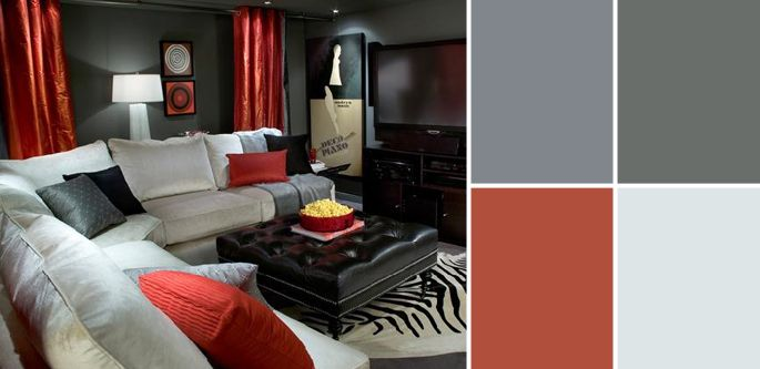 a palette guide to basement paint colors basement colors on basement color palette ideas id=49367