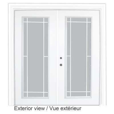 Stanley Doors Steel Garden Door Prairie Style Grill 6 Foot X