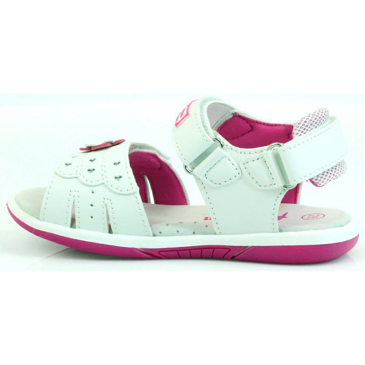 American Club Buty Dzieciece Sandalki Z Wkladka Skorzana American 93606 Rozowe Biale Kid Shoes Leather Summer Shoes