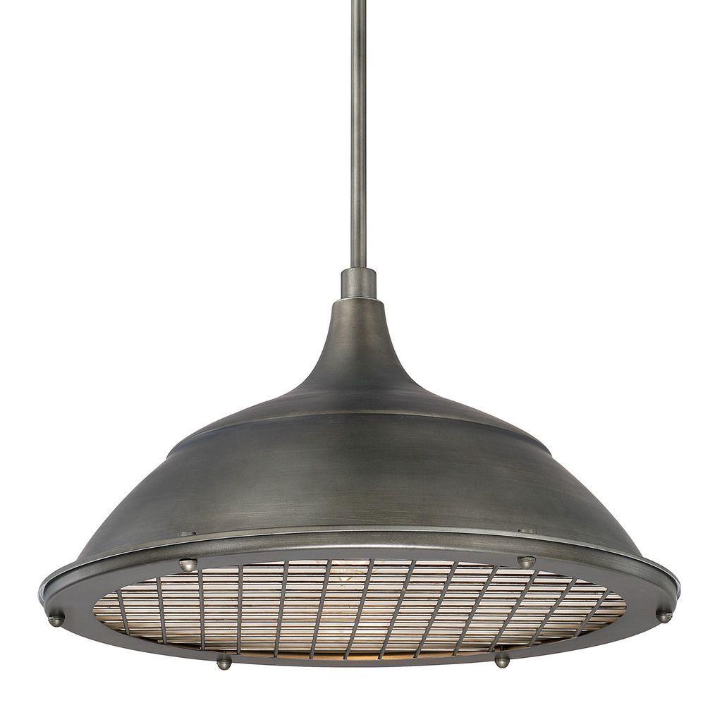 Capital lighting transitional light gunmetal pendant grey