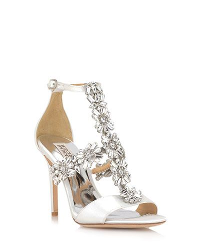 c8f61471f08 Munroe by Badgley Mischka. Munroe is a glamorous satin heel perfectly  poised to add an elegant accent to your ensemble. This evening shoe  features a 3 3 4 ...