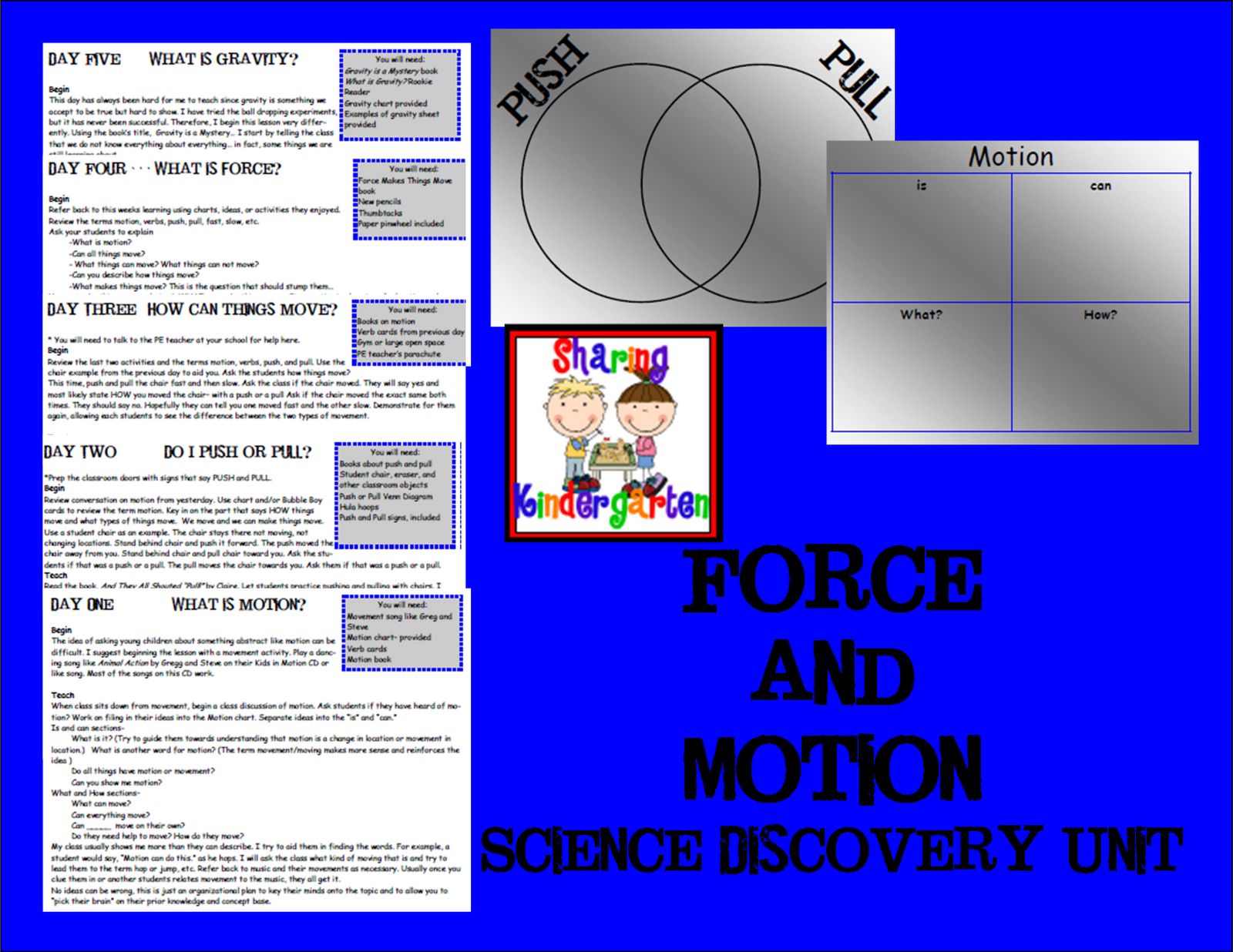 Sharing Kindergarten Forces And Motion