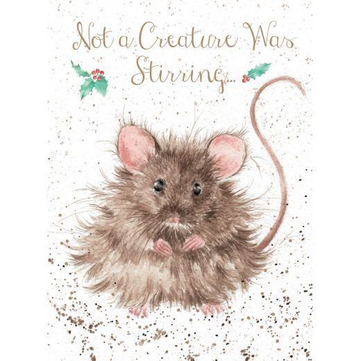 'Not a Creature Was Stirring' card