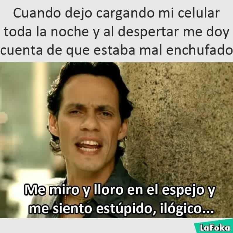 Poner A Cargar El Celular En La Noche Y Amanece Sin Bateria Funny Memes Memes Humor