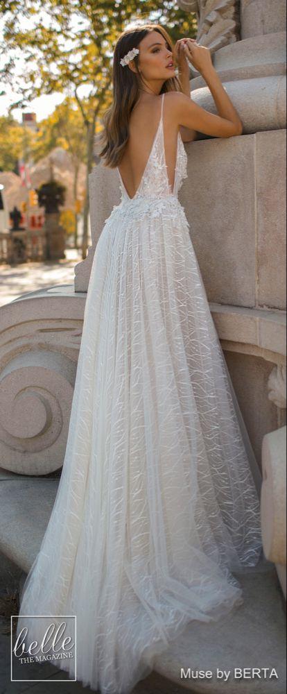 MUSE by BERTA Wedding Dresses 2019 - Barcelona Bridal Collection #bertaweddingdress