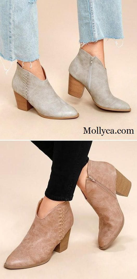 Plus Size Zipper Ankle Stivali stivaliies Chunky Heel Daily Stivali Ankle in 2018   422515