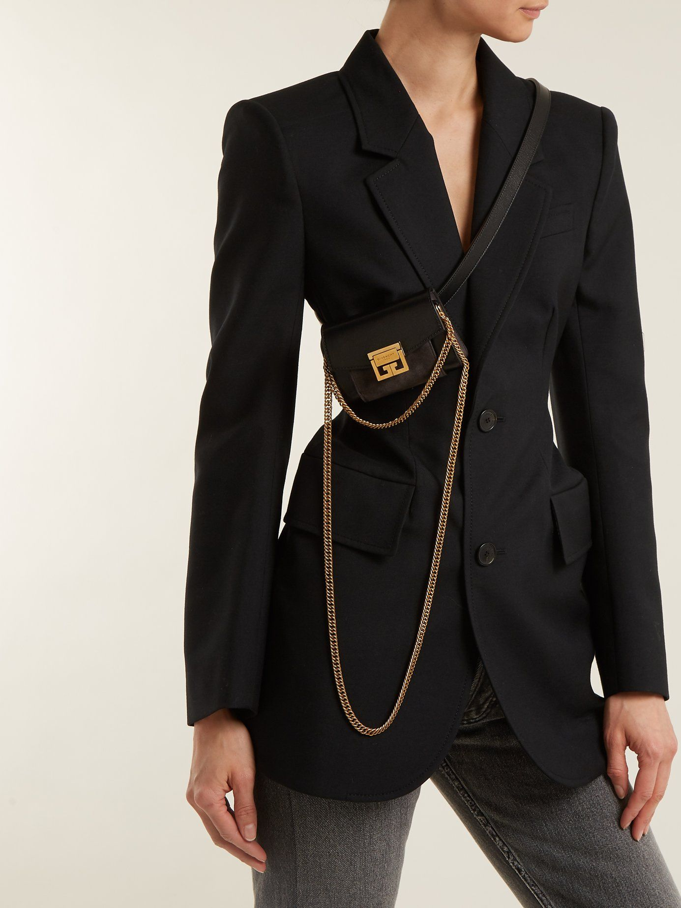 3ff1c8911d GV3 nano suede and leather belt bag | Givenchy | MATCHESFASHION.COM ...