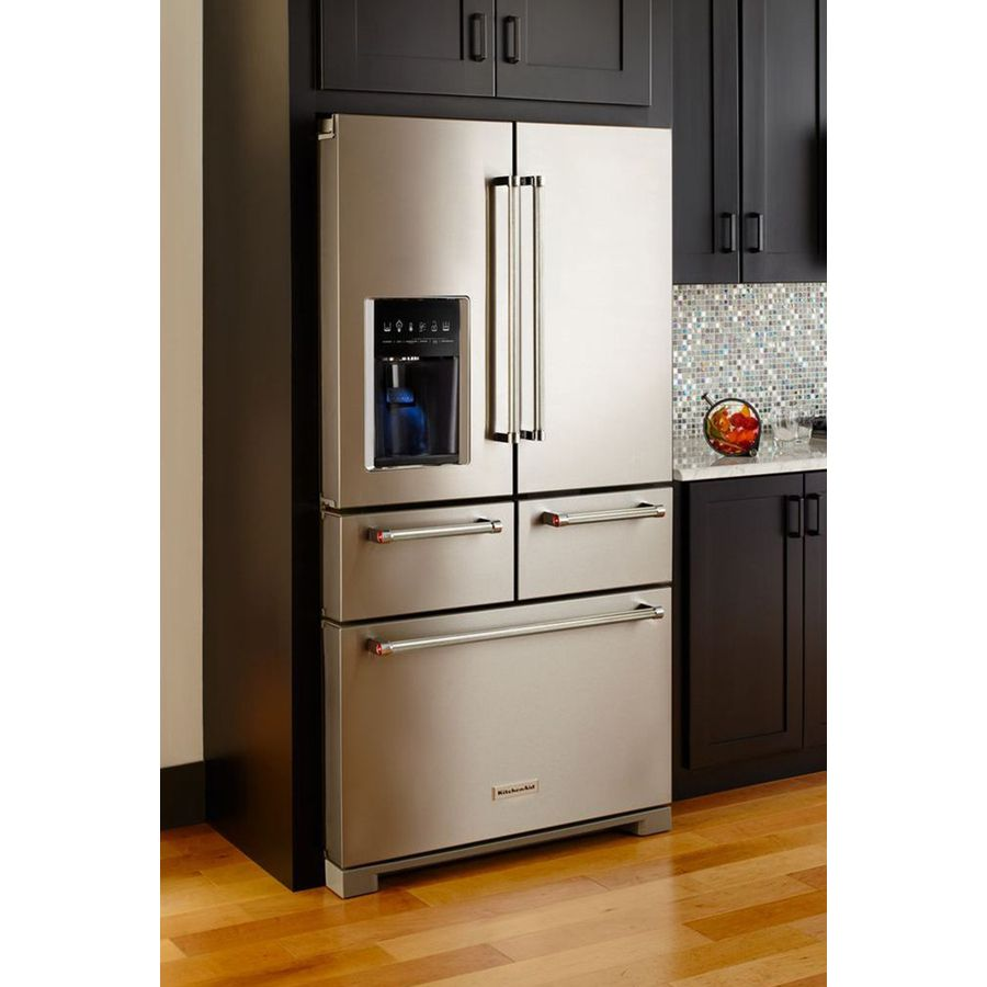 Shop KitchenAid 25.8-cu Ft 5-Door French Door Refrigerator