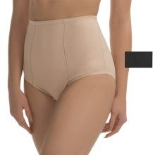 Ellen Tracy Micro Tummy-Smoother Panties - 2-Pack, Briefs (For Women) in Black/Sunbeige - Closeouts