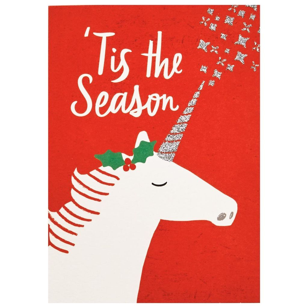 merry unicorn christmas cards box of 12 with images