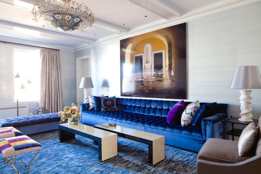 Blue Velvet Upholstery Fabric Home Decor Living Rooms
