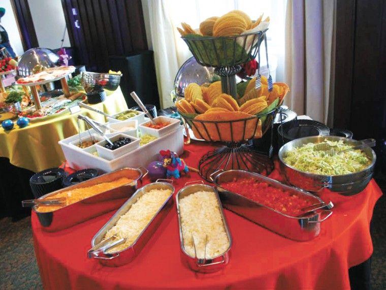 Taco bar ideas party ideas for cinco de mayo ladue for Food bar ideas