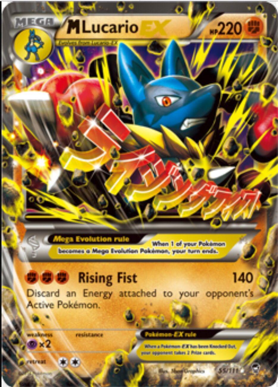 A Lucario Mega EX 55/111 Pokemon Pokemon cards