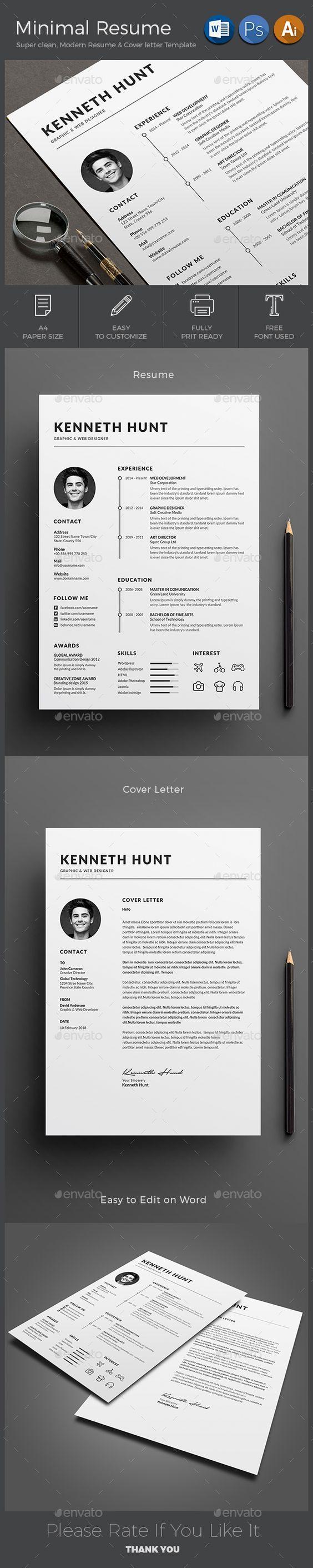Pin de Aanygraphic en Cv+Resumes+Portfolio | Pinterest | Plantillas ...