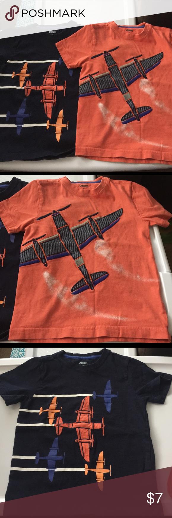 2 gymboree boys 3t t shirts airplane prints gymboree