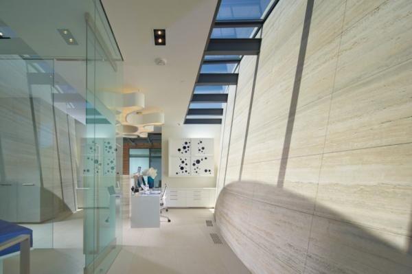 The Obagi Skin Health Institute Travertine, Organizing and Architects