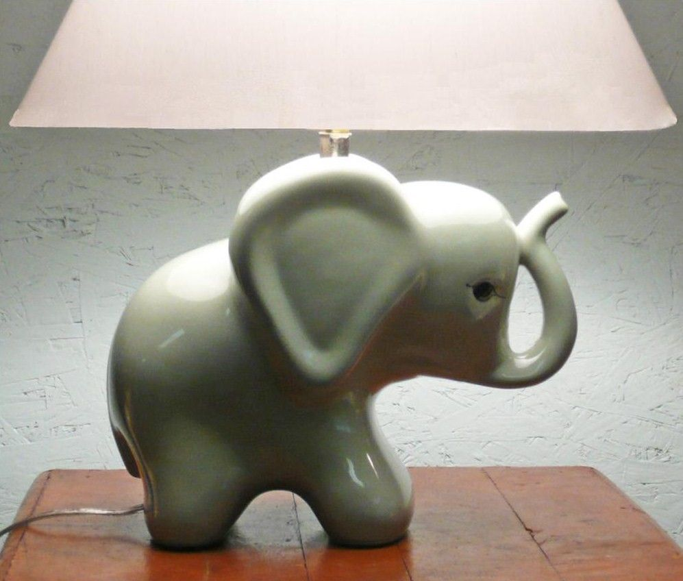 Vintage Elephant Nursery Lamp Someday I Ll Track This Down Whoever Owns It Now Please Take Care Of