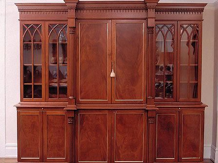 Gothic Glass Makes This Cabinet By Packard Cabinetry A Great Focal Point  For A Room.