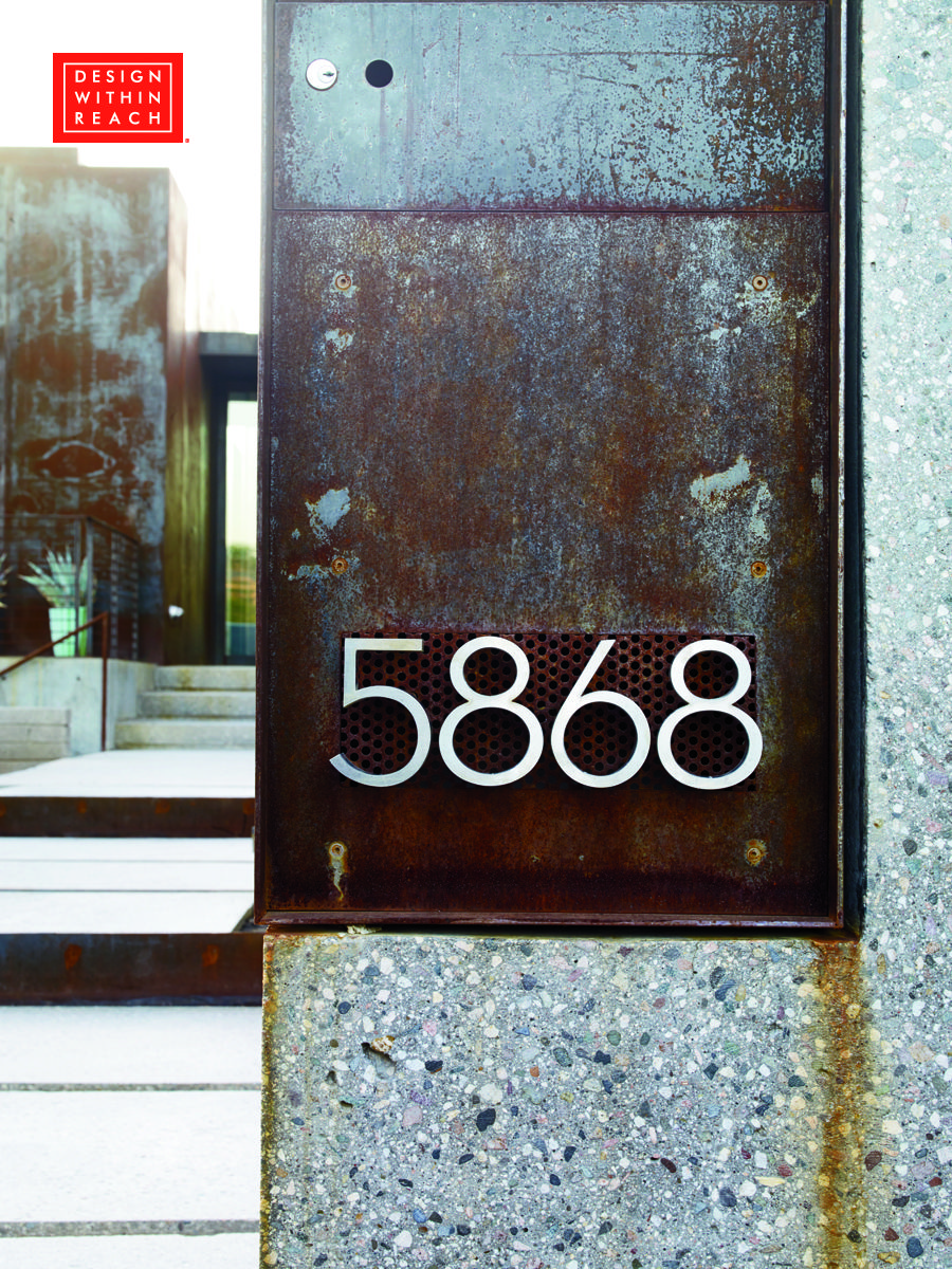 Neutra Modern House Numbers Design Within Reach Metal House