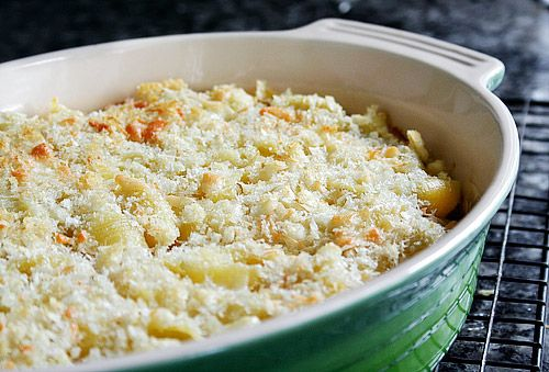 Baked Shells with Fontina and Parmesan Bread Crumbs