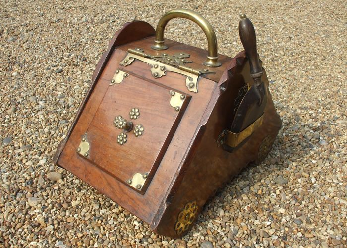 Image detail for -Walnut arts and crafts coal box for sale ...