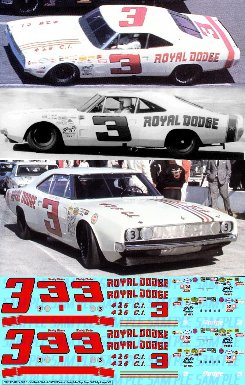 photos of buddy baker's stock cars of Smokey Yunick
