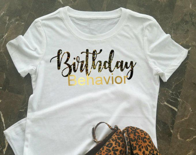 Birthday T Shirt For Women Girl 21st Black And Gold