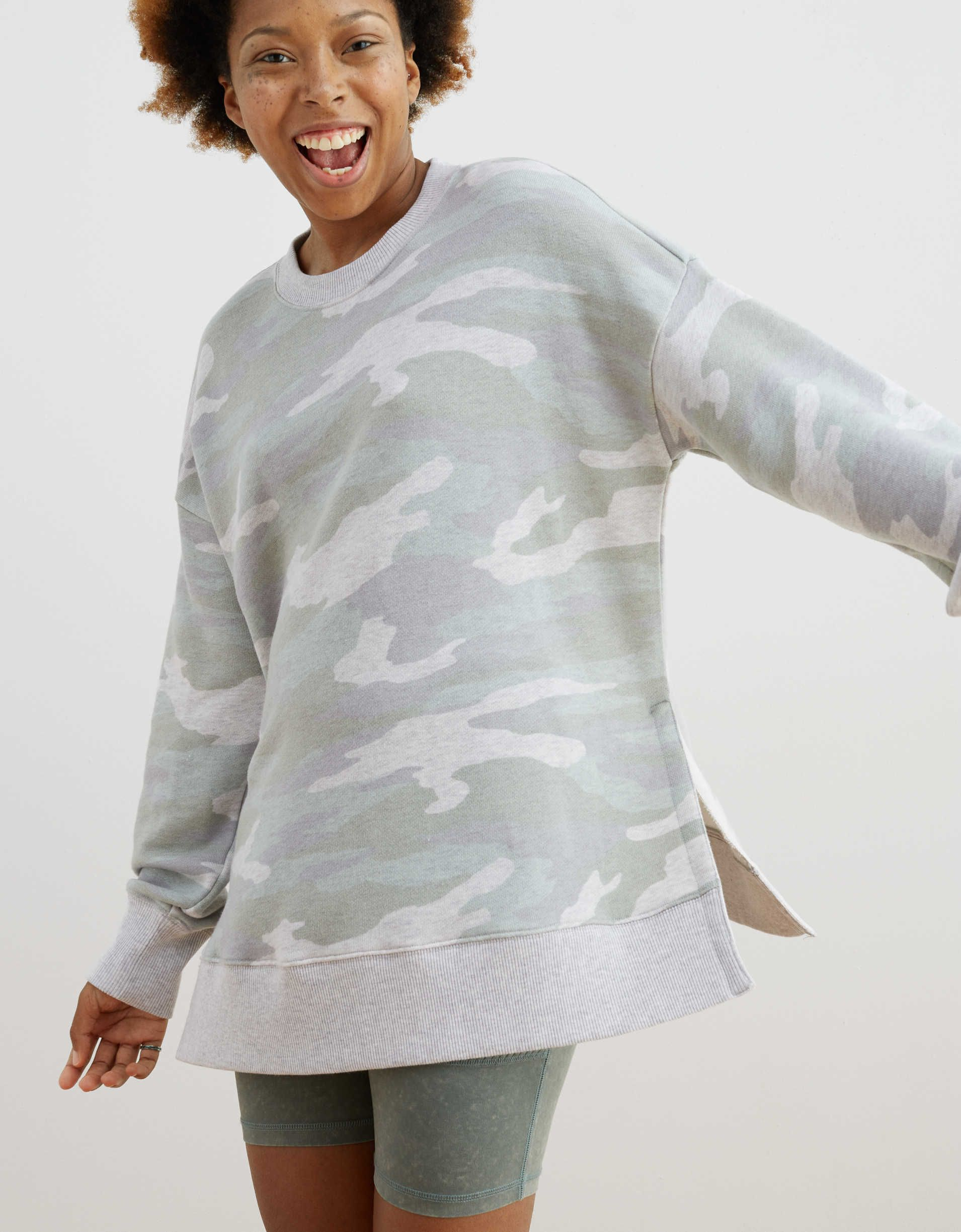 Aerie Oversized Desert Sweatshirt Cotton Sweatshirts Sweatshirts Hoodies Men [ 2450 x 1910 Pixel ]