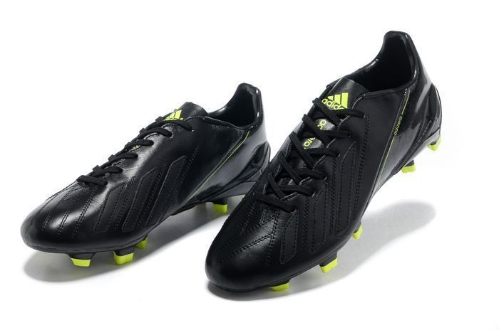 Adidas Adizero F50 TRX FG Leather Cleats - All Black Fluorescent Yellow New  Soccer Shoes 2013  Black  Womens  Sneakers d82e7e845