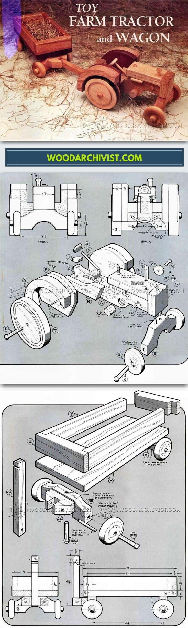 wooden toy tractor plans - wooden toy plans and projects