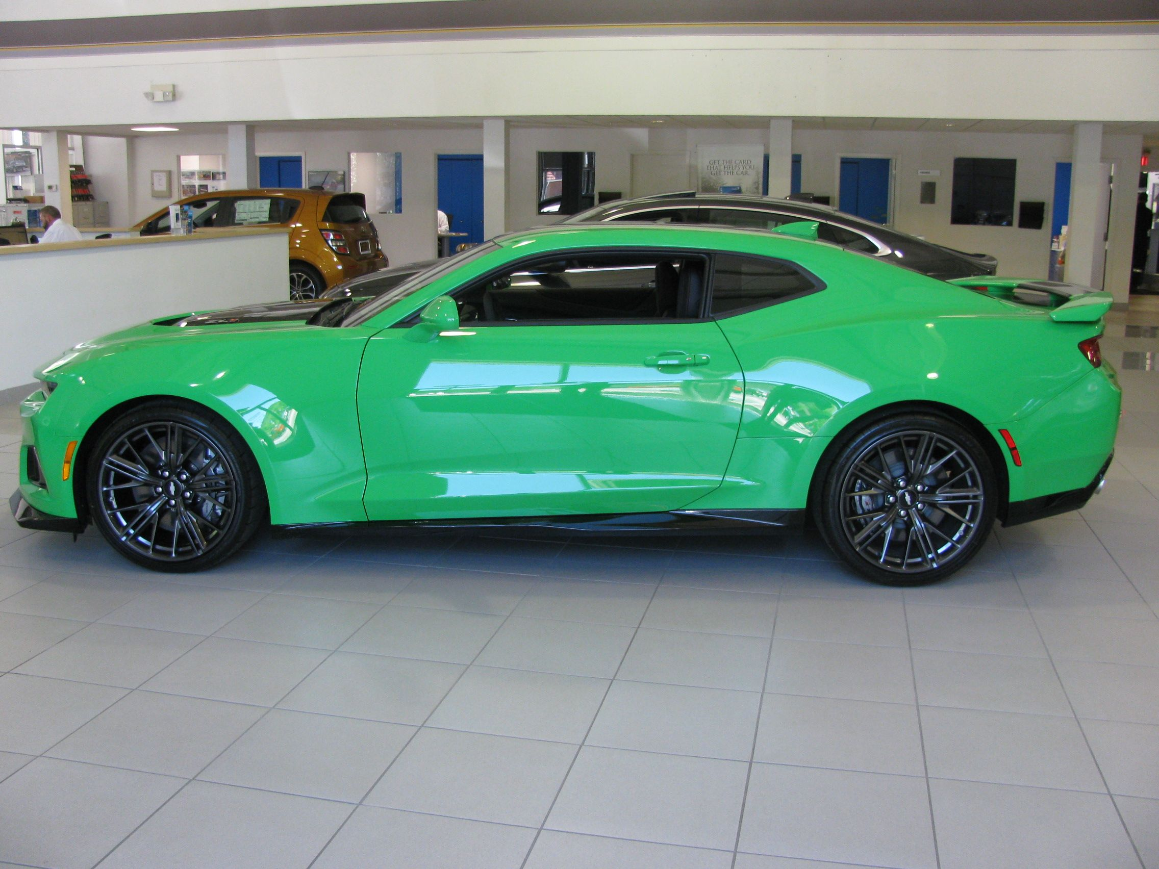 Pin By Riverview Chevrolet On 2017 Chevy Camaro Zl1 Krypton Green