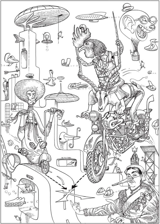 Creative Haven Bizarro Land Coloring Book: by Bizarro cartoonist Dan ...