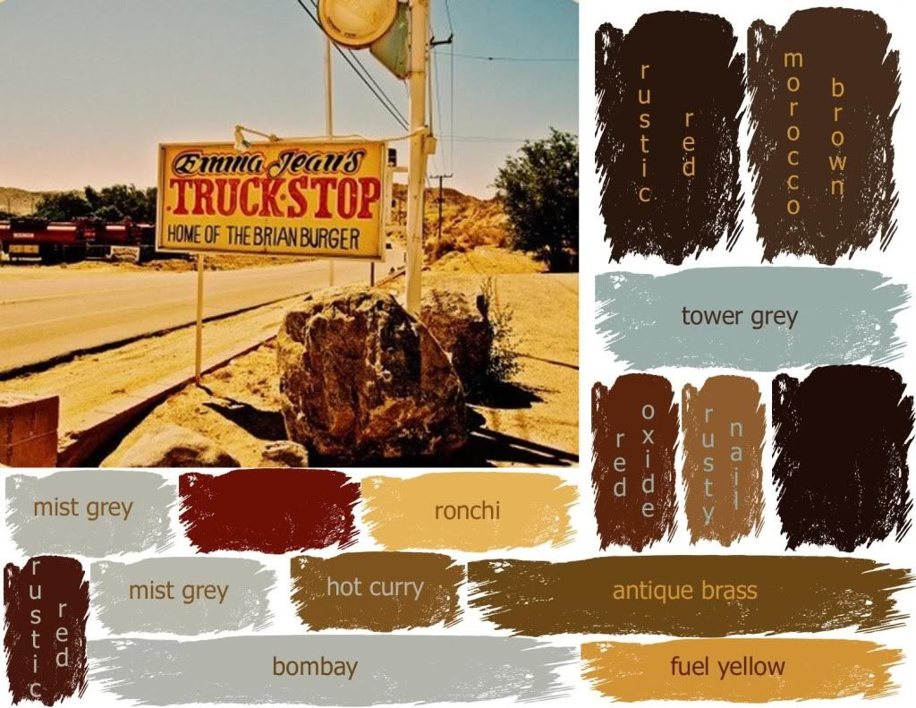 Rustic Color Schemes Truck Stop Color Palette Photo Inspiration For A New Invitation