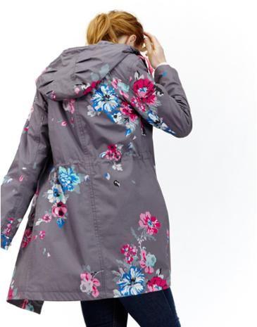 3c56866e037 Joules Womens Waterproof Parka, Slate Posy. | fashion | Waterproof ...