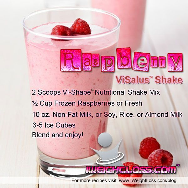 Raspberry Protein Shake Recipe from USA Flag Co.