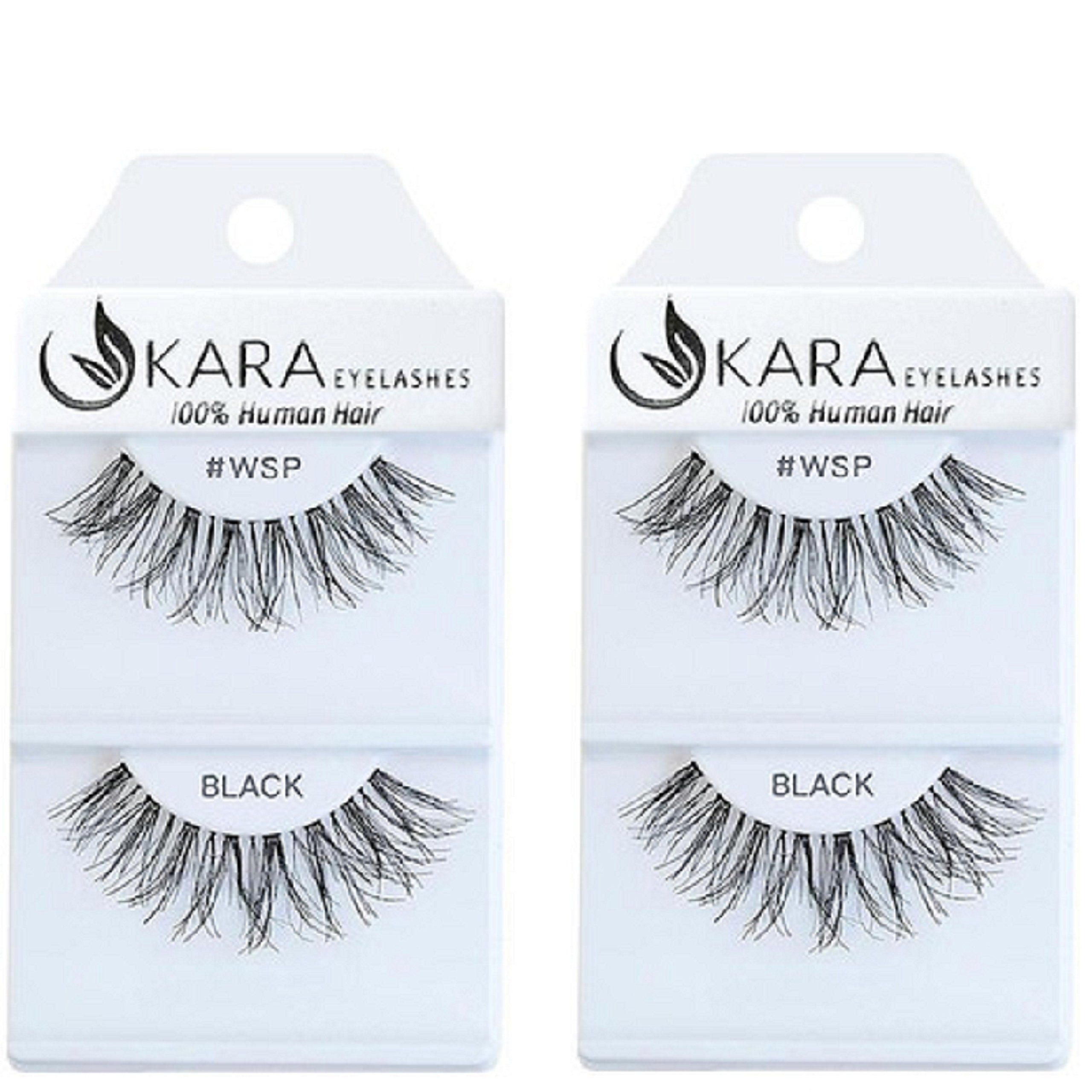 23f8c4b2a33 Kara Beauty Multipack Eyelashes 100% Human Hair Eyelashes Natural Look  False Lashes Wispies- WSP