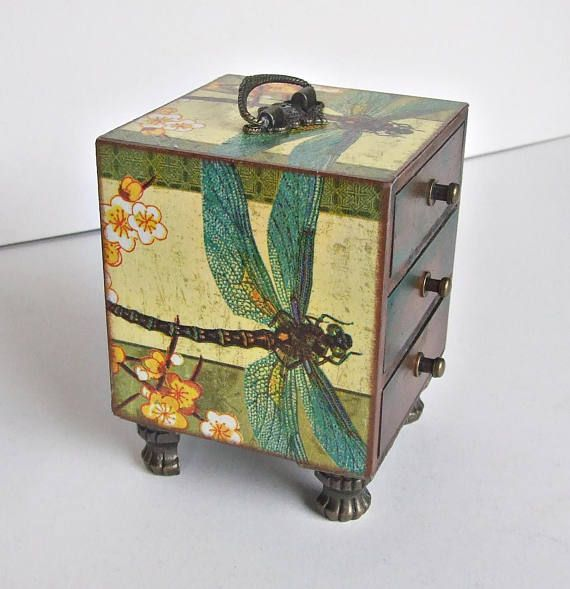 mini chest of drawers dragonfly jewellery box dragonfly box