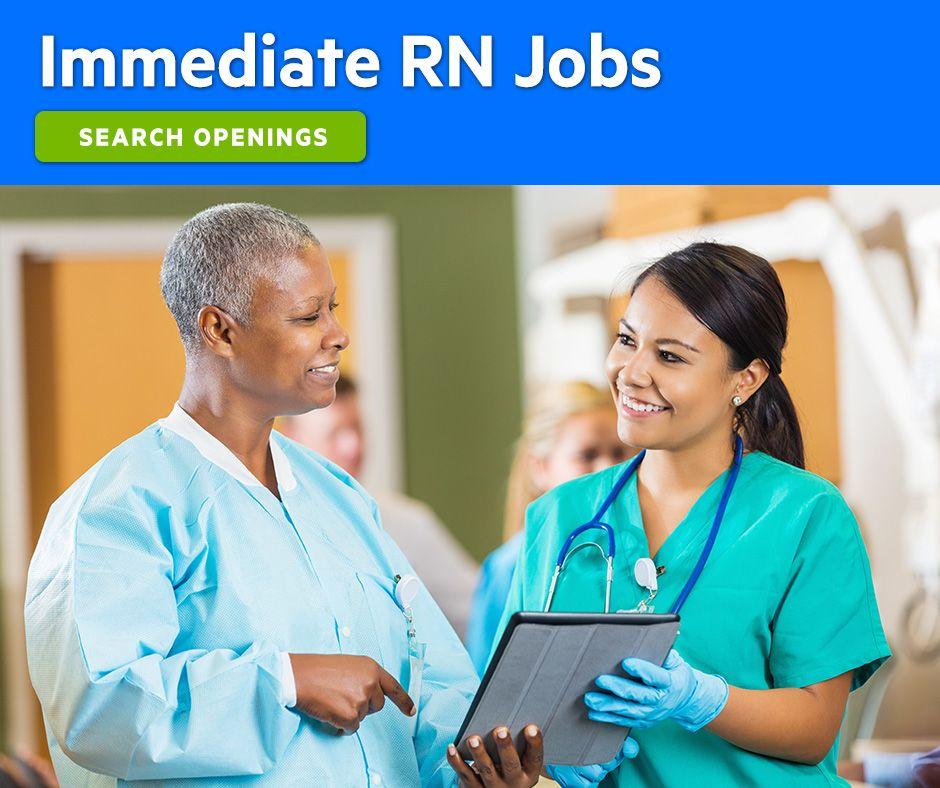 JoboftheWeek Immediate registered nurse (RN) jobs in