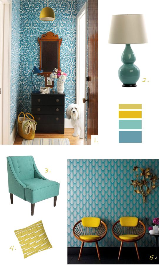 Color Mix Teal And Mustard Living Room Color Contemporary