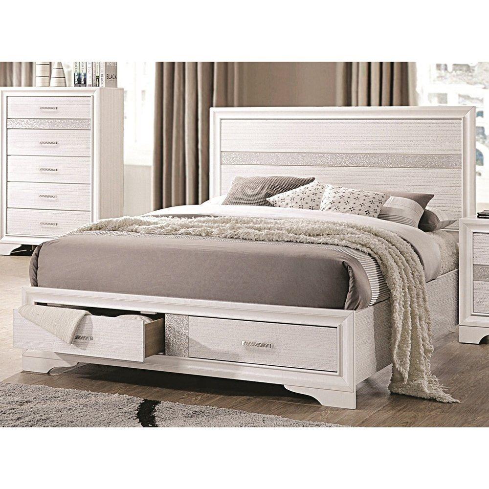 Best Miranda Contemporary White Storage Bed Queen Coaster 400 x 300